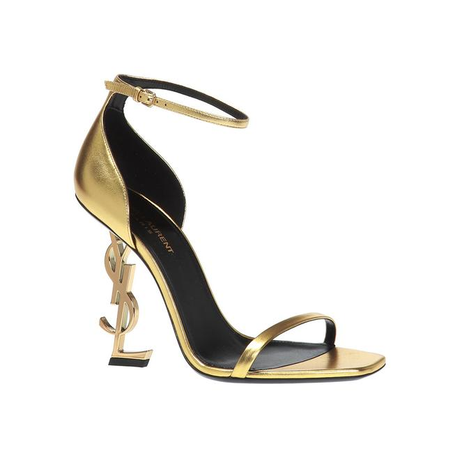 Item - Women's Metallic Leather Opyum Heeled Gold Sandals