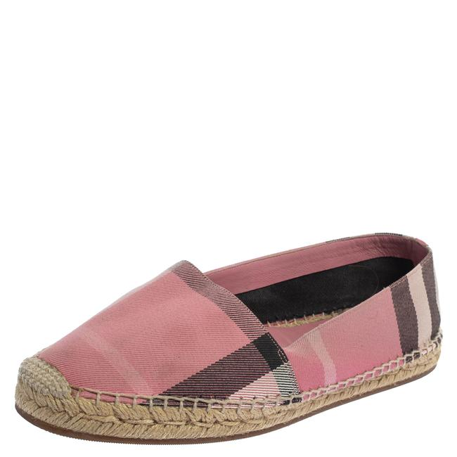 Item - Pink Hodgeson Check Canvas Espadrille Size 40 Flats
