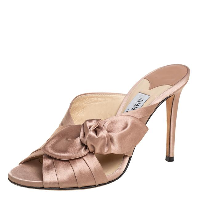Item - Nude Pink Satin Keely Knotted Slide Size 35 Sandals