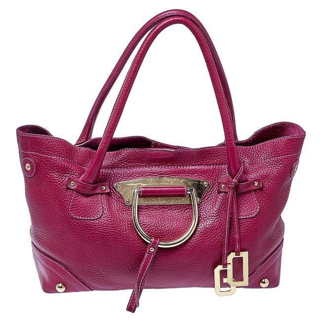 Item - Dolce & Gabbana Fuchsia Leather D-ring Tote