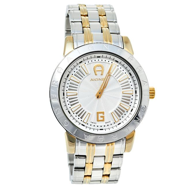 Item - Silver Two-tone Stainless Steel Cortina A26300 Women's Wristwatch 36 Mm Watch