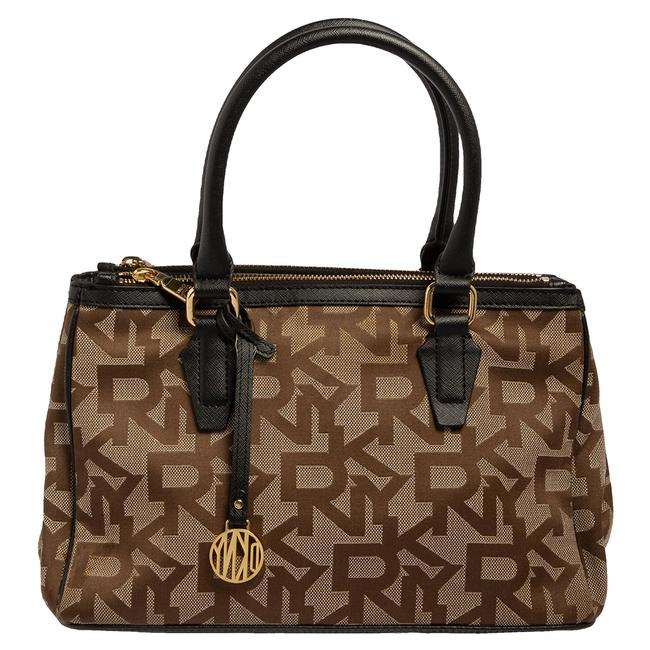 Item - Monogram Canvas and Leather Double Zip Tote