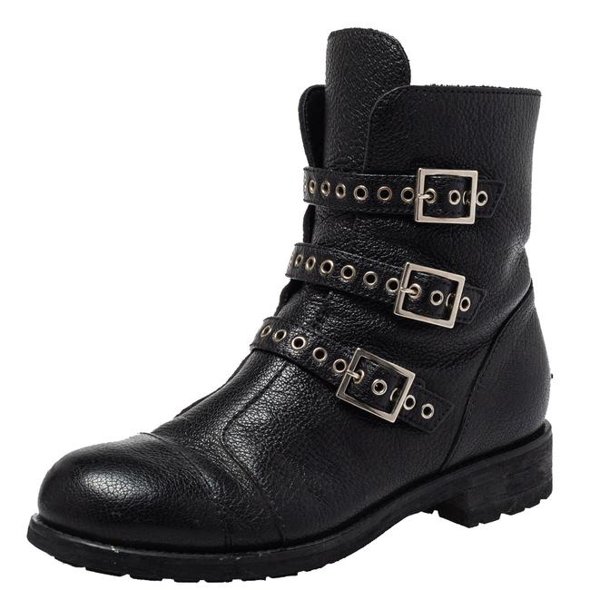 Item - Black Leather Rivets Ankle Size 35.5 Boots/Booties