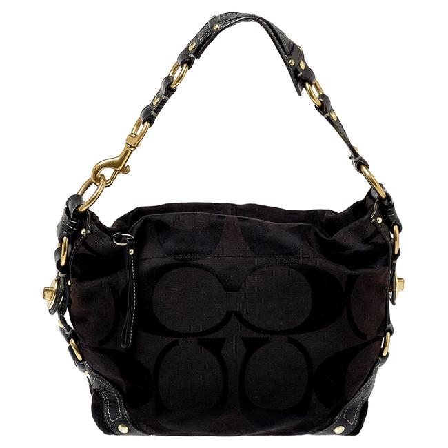 Item - Carly Signature Canvas and Leather Hobo Bag