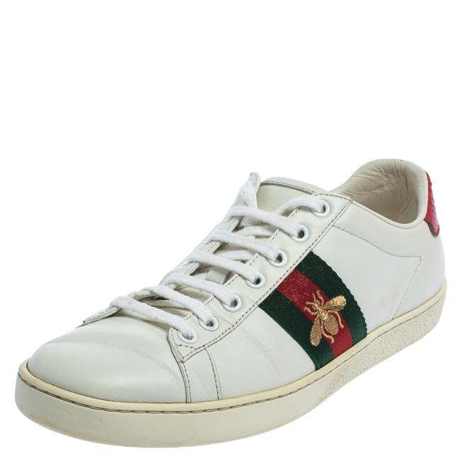 Item - White Leather Ace Low-top Sneakers Size 37.5 Athletic