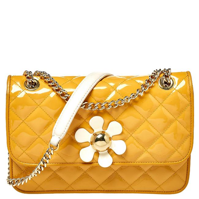Item - Crossbody Yellow Quilted Patent Leather Shoulder Bag