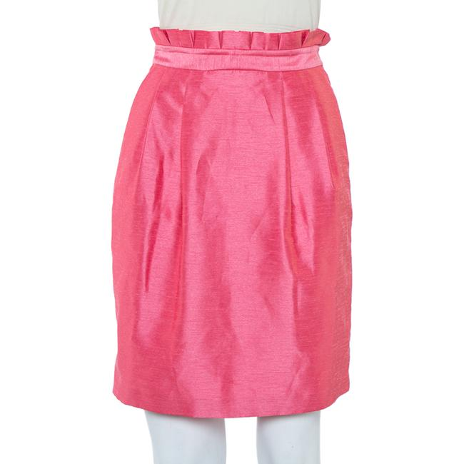 Item - XS Pink Synthetic Paper Bag Waist Detail Mini Skirt
