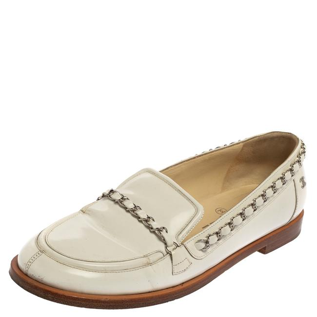 Item - White Patent Leather Chain Size 39 Loafers