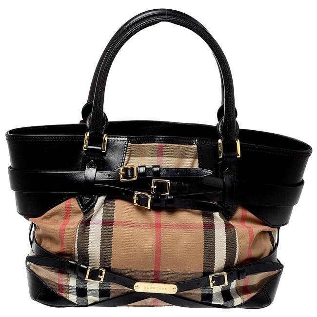 Item - House Check Canvas and Leather Medium Bridle Lynher Tote