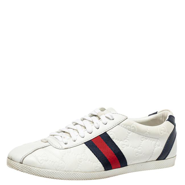 Item - White ssima Leather Lace Up Sneakers Size 37.5 Athletic