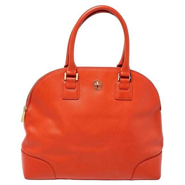 Item - Robinson Burnt Orange Leather Dome Satchel