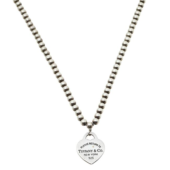 Item - Sterling Silver Return To Heart Pendant Bead Necklace Jewelry