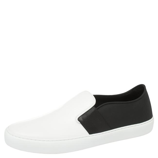 Item - Monochrome Leather Slip On Sneakers Size 42 Athletic