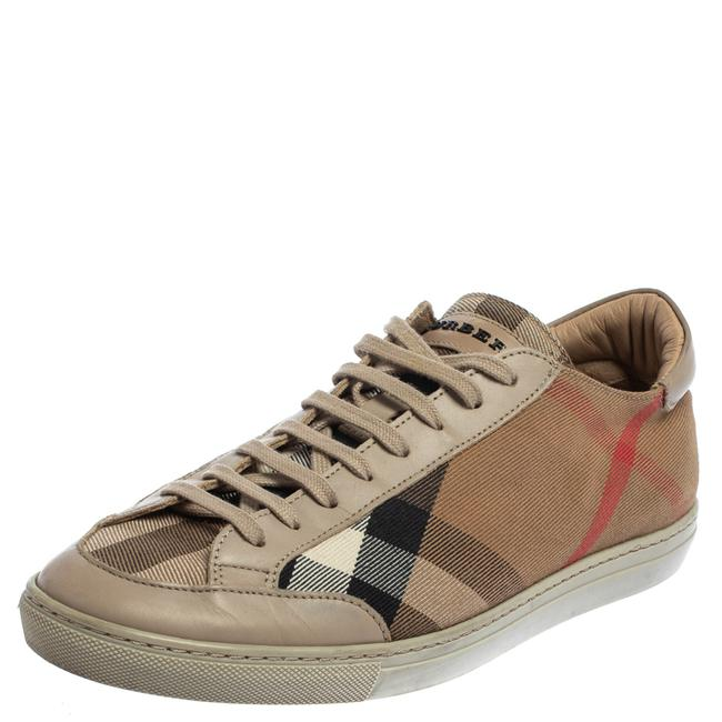 Item - Beige Nova Canvas and Leather Low Top Sneakers Size 40 Athletic