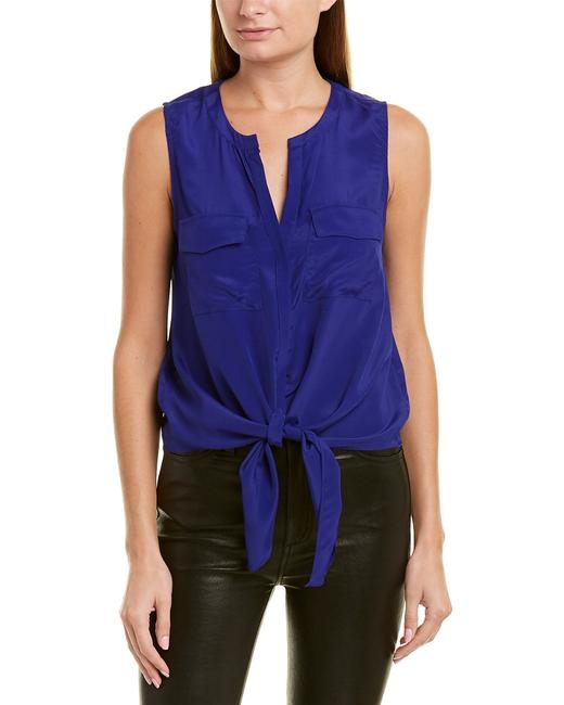 Item - Pocketed Silk-blend Top Aol 7458 Blouse