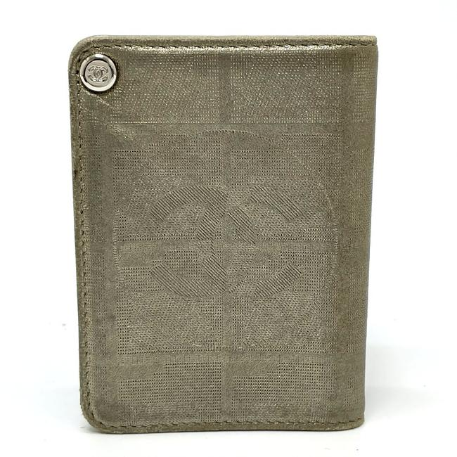 Item - New Travel Line Card Holder Card Case Leather Gold Accessory