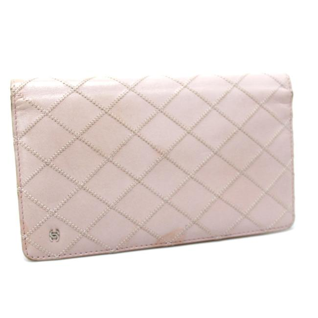 Item - Long Quilted Stitch Bifold Baby Pink Wallet