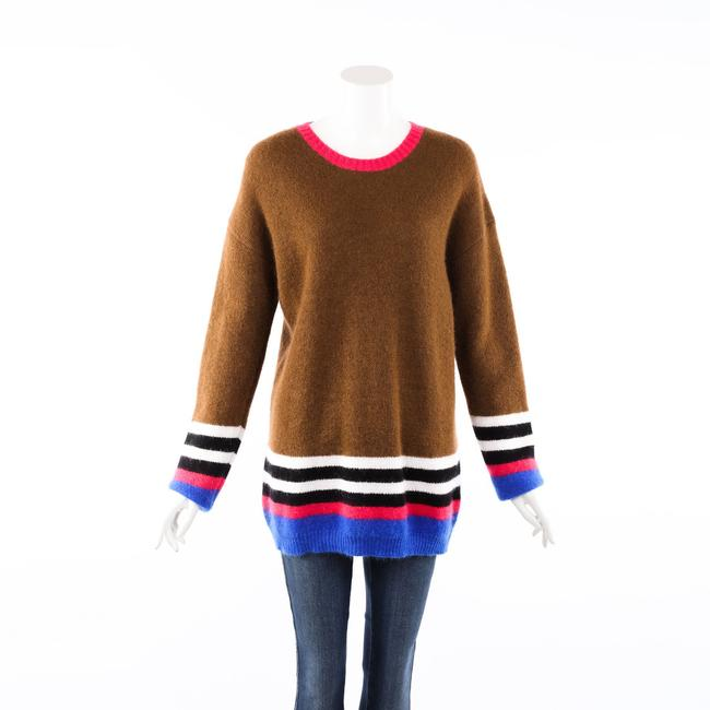 Item - No. 21 Striped Brown Multicolor Mohair Knit Sweater/Pullover