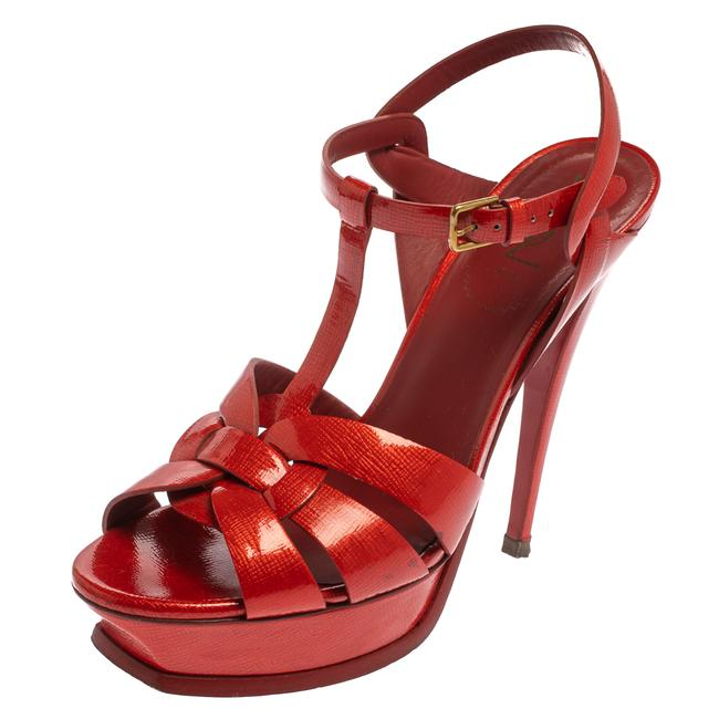 Item - Tribute Red Patent Leather Size 40 Sandals