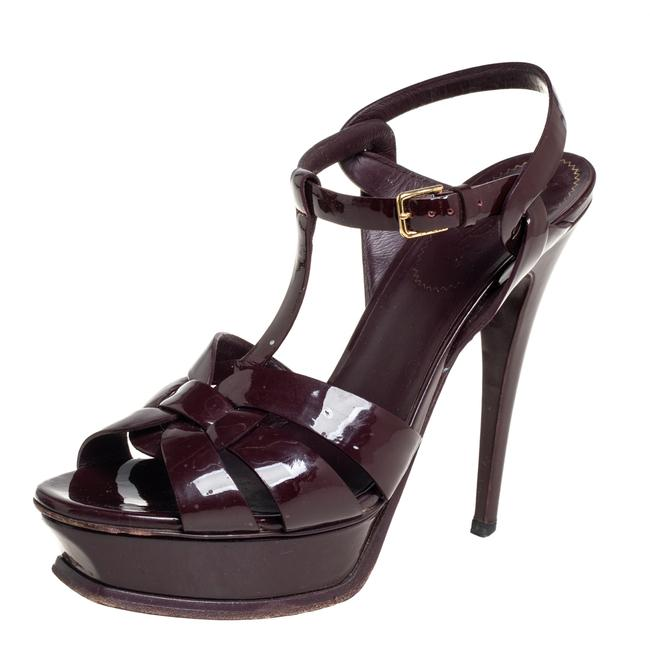 Item - Tribute Burgundy Patent Leather Size 39.5 Sandals