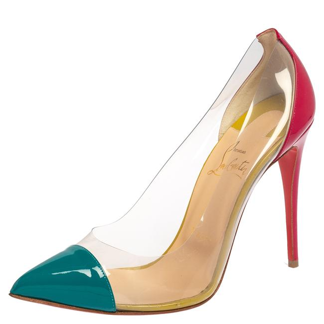 Item - Multicolor Patent Leather and Pvc Debout Pointed Size 38 Pumps