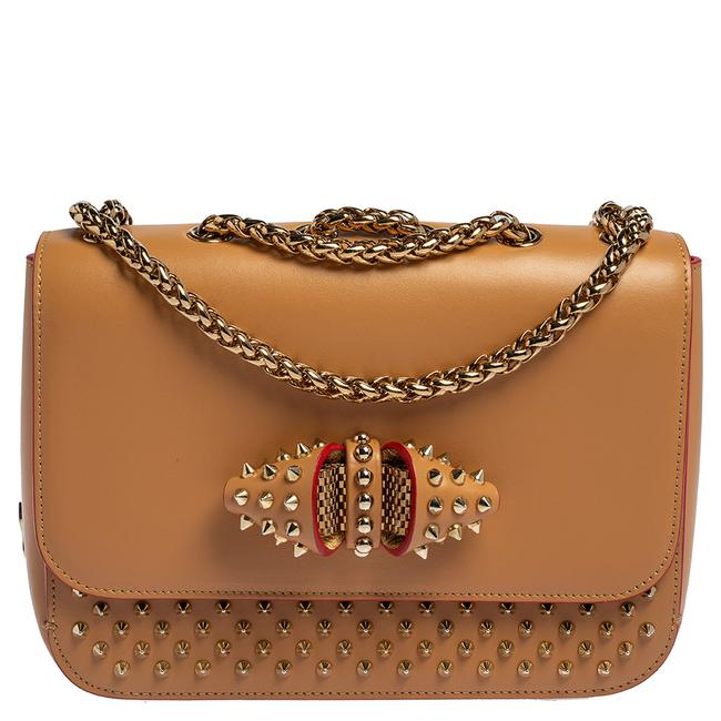 Item - Beige Leather Small Spikes Sweet Charity Shoulder Bag