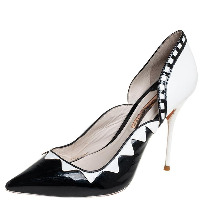 Item - Black/White Patent Leather and Leather D'orsay Size 40 Pumps