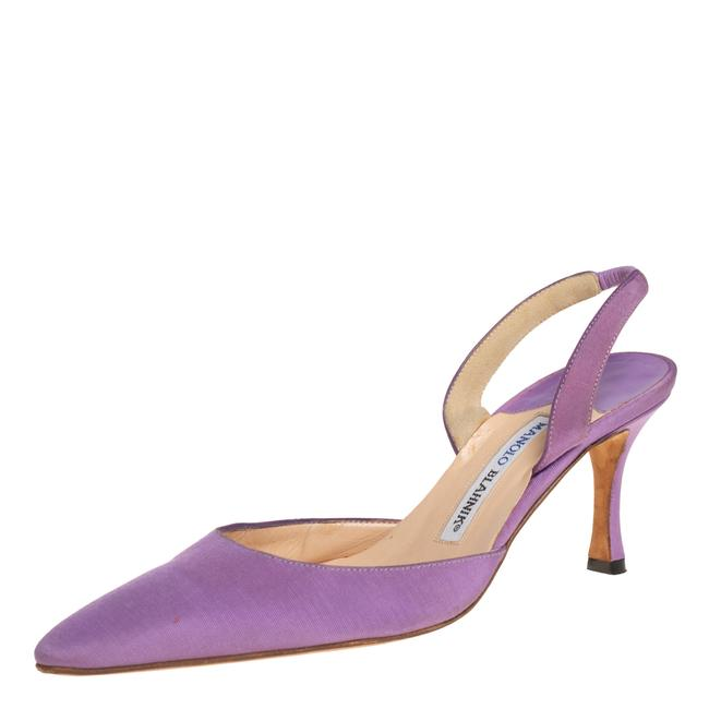 Item - Vintage Purple Fabric Carolyne Pointed Toe Slingback Size 36.5 Sandals