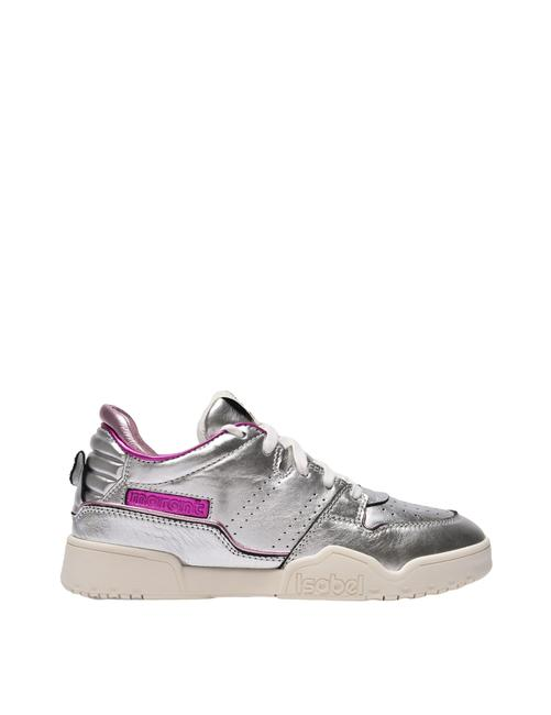 Item - Emree Sneakers In Silver Leather Athletic