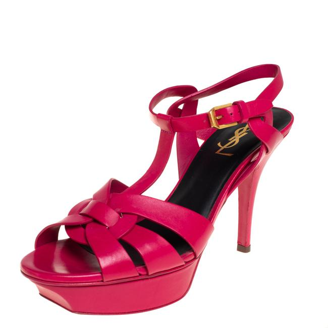 Item - Tribute Pink Leather Size 38.5 Sandals