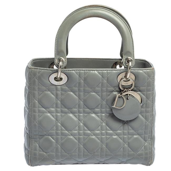 Item - Lady Grey Quilted Leather Medium Tote
