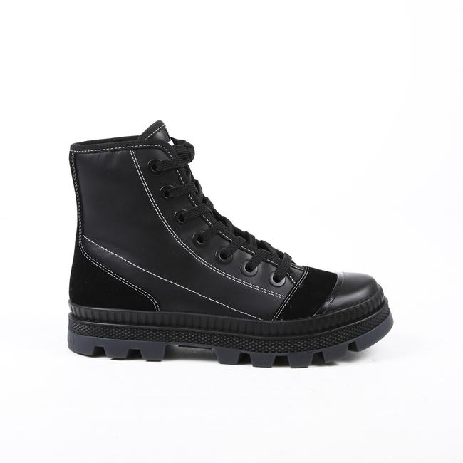 Item - Nord/F Black Suede Leather Lug Sole Sneaker 38.5 Boots/Booties