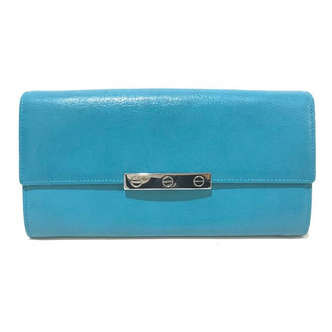 Item - Long Love Collection Bifold Light Blue Leather Wallet