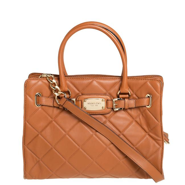 Item - Tan Large Quilted Leather Hamilton Tote