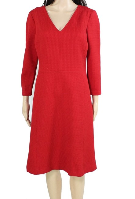 Item - By Women's Red Size 10 A-line Woven V-neck Formal Dress