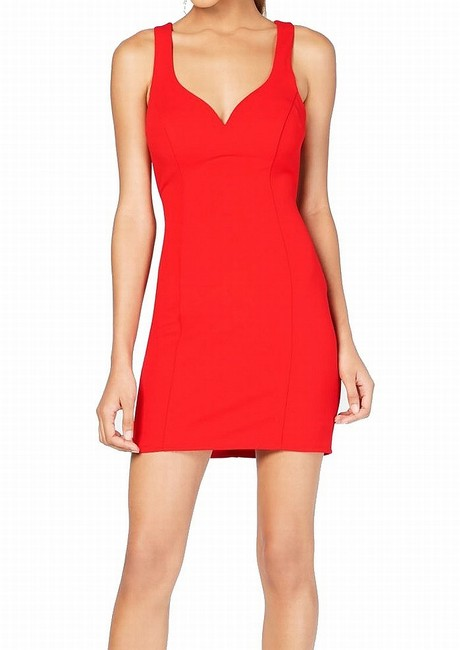 Item - Lovely Red Size 13 Junior Sheath Cage Back Bodycon Formal Dress