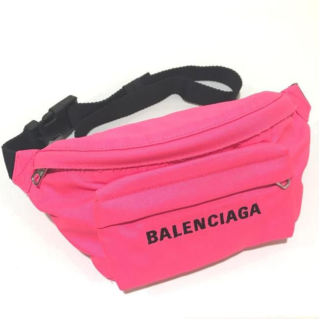 Item - Embroidery Wheel Waist Pouch Pink 569978 Cross Body Bag