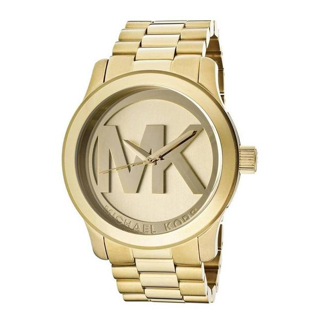 Item - Runway Quartz Gold-tone Champagne Dial One Size Watch