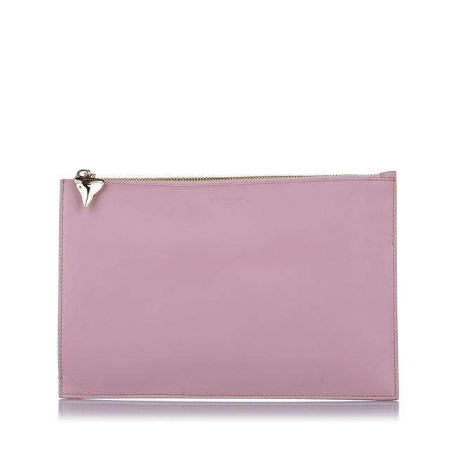 Item - Shark Tooth Zip Leather Pouch Wristlet