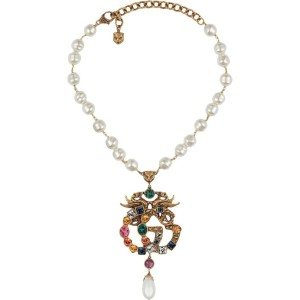 Gucci Gg Crystal-embellished Pearl Necklace It Jewelry
