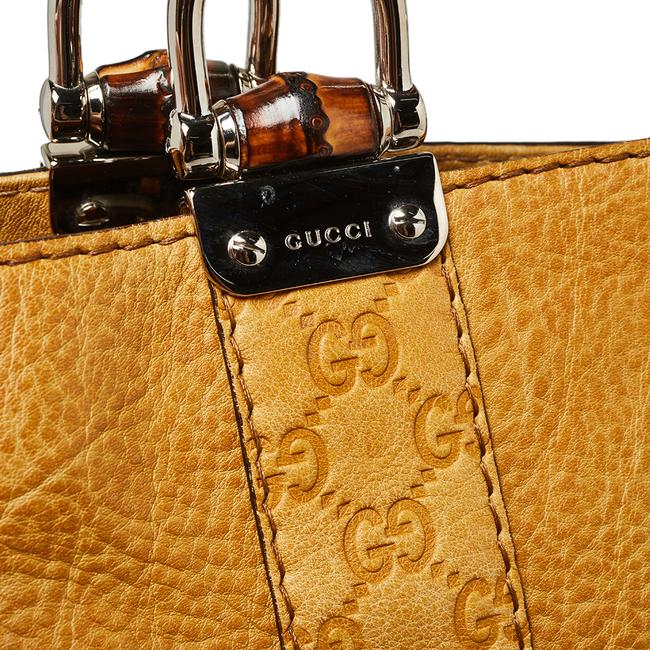 Gucci Yellow Guccissima Leather Large Bamboo Bar Tote Gucci Yellow Guccissima Leather Large Bamboo Bar Tote Image 5