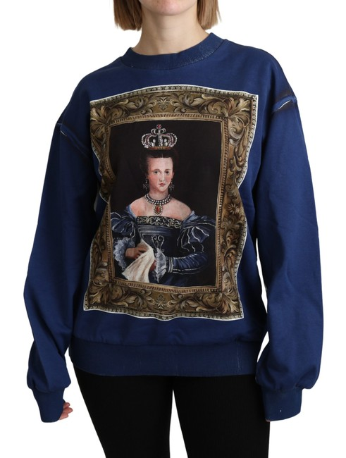 Item - Blue Printed Long Sleeves Sweater/Pullover