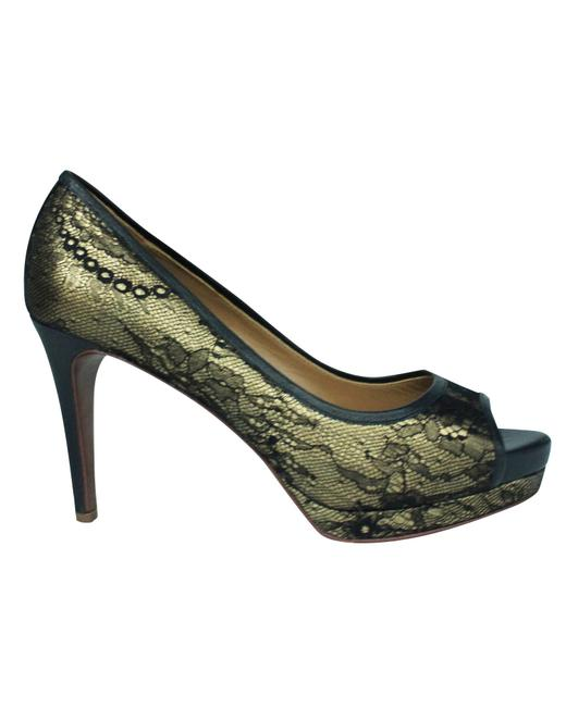 Item - Black Madison Peeptoe Pumps -pre Owned Condition Very Formal