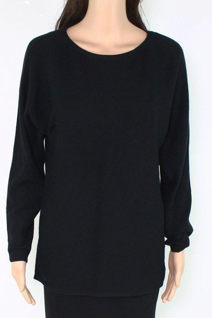 Item - L Women's Classic Black Size Large Rib Knitted Long Sweater/Pullover