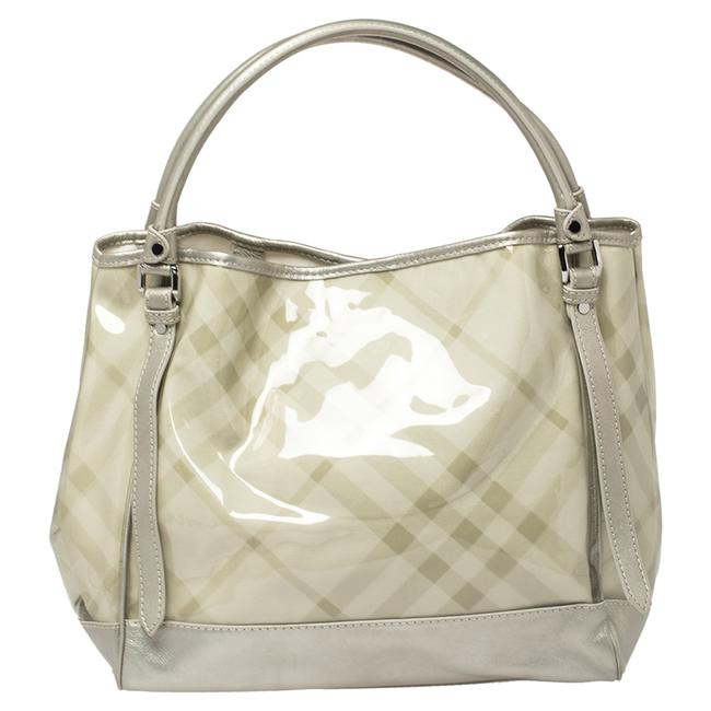 Item - Grey Exploded Check Pvc and Leather Tote