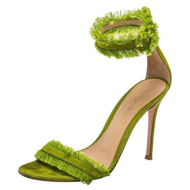 Item - Green Suede Caribe Size 38 Sandals