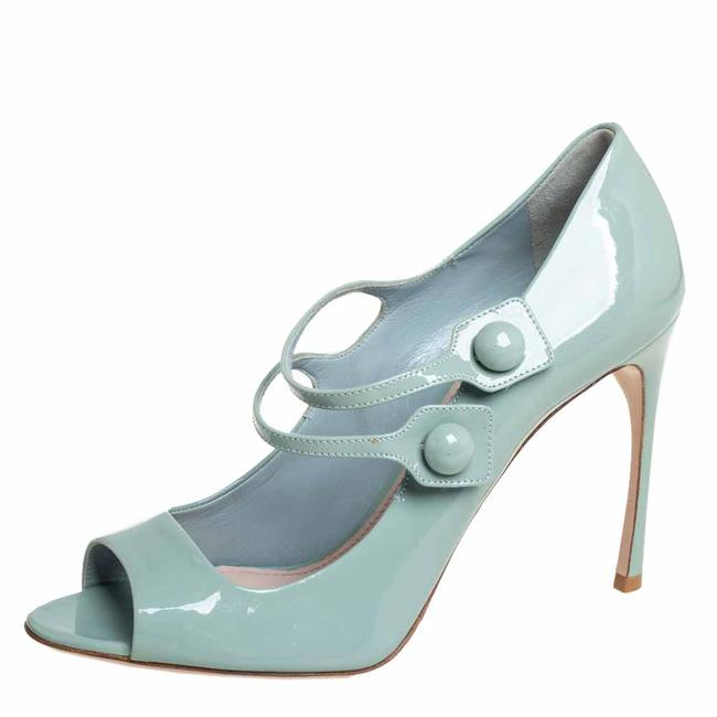 Item - Pale Green Patent Leather Mary Jane Size 39 Pumps