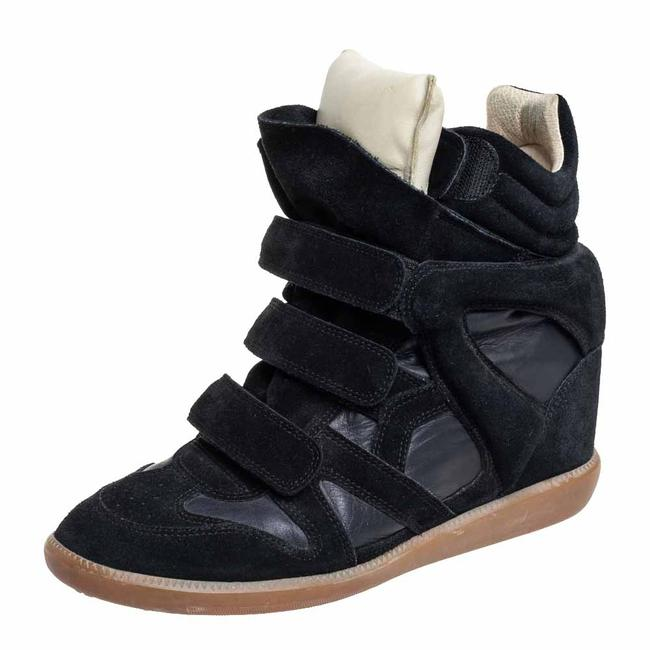 Item - Black Suede and Leather Bekett High Top Sneakers Size 41 Athletic