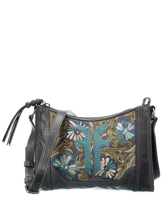 Item - Melissa Embroidery Zip Leather 34db0827-098 Cross Body Bag