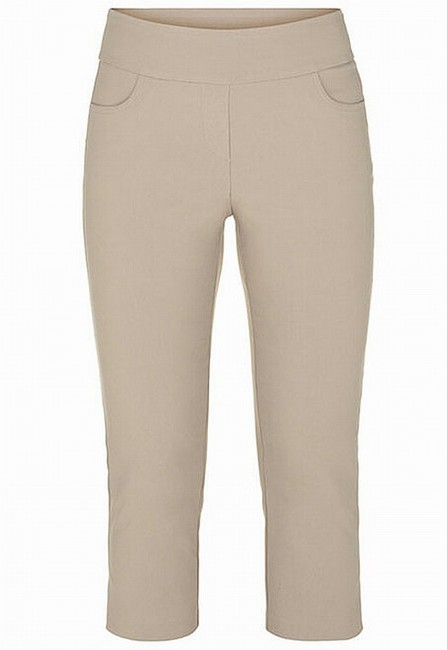 Item - Women's Beige Size 2x22 Pull-on Flat Cropped Stretch Pants
